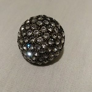 A ladies Bling Ring covered in rhinestones